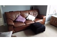 Chocolate brown 3 seater Settee Sofa Bed