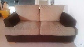 2 Seater Fabric Sofa. Good Condition