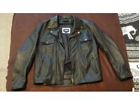 Large Triumph Leather Jacket in mint condition with protectors.