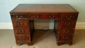 Leather Topped Regency Style Desk
