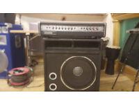 Carlsbro Stingray amp and 18 in speaker cab