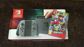 Nintendo switch and mario odesey