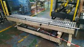 Low level roller conveyors.