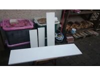 Pieces of white limestone suitable for hearth/fire surround