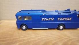 Collectors Ecurie Ecosse race car transporter Corgi toys with Ferrari and BRM bestbox cars