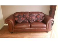 Thomas Lloyd leather sofa and matching armchairs