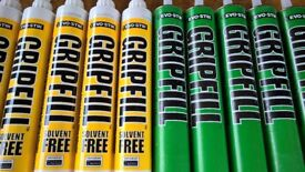 gripfill adhesive for wood, brick, plaster and other building materials