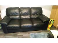 3 1 1 seater sofa in black leather
