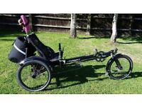 Hase Kettwiesel Recumbent Trike Bike Excellent Condition Matt Black