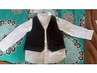 Boys waistcoat and shirt
