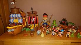 Jake and the Neverland Pirates Figures Games Bath Toys