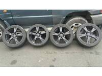 Bk racing 5 spoke 18 inch alloys