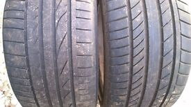 255/35 ZR 19 Two Good tyres 19'' Continental