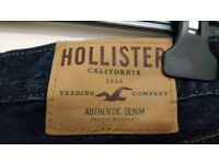 Men's Hollister Skinny Jeans W30 x L30 | Excellent Condition | 30S | Indigo Denim Short Slim The