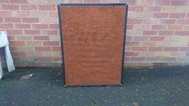 VINTAGE 1970S FANE 18 INCH ANISOTROPIC FERRITE MAGNET BASS GUITAR SPEAKER + CAB GIBSON FENDER VGC