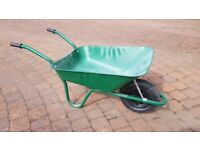 Wheelbarrow with pneumatic tyres. Used for one week only