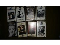 Free to collector 8 Bette Davis video films & 8 other old films. £0