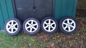 "Toyota corolla 15"" alloy wheels and tyres"