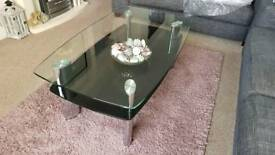Livingroom / dining room glass furniture set