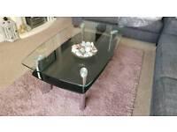 Livingroom / dining room glass furniture set