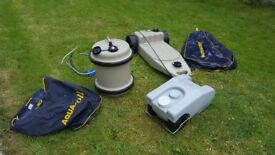 Aquaroll waste master and water container bundle + Fiamma waste tank