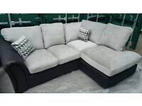 NEW Linear Grey Corner Chaise Sofa in Grey DELIVERY AVAILABLE