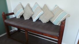 Beautiful Solid Wood Arabic Bench With Cushions - Make An Offer