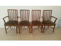 Pending Collection Set of Four Mid Century Teak Dining Chairs