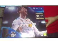 Unopened PS4 500gb with fifa18 . Came with new phone bundle