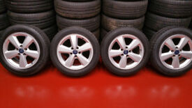 Ford Genuine 16 '' ALLOY WHEELS +4 x tyres 205 55 16