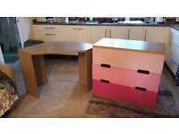 Chest of drawers and desk