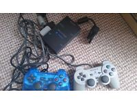 PlayStation 2 Ps2 Sony Multitap with 2 Sony Controllers