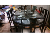 Stunning Japanese dinning table and 6 chairs