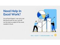 Need Help to do Excel Work? I am Excel Expert