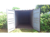 Self storage shipping container to let chippenham secure compound