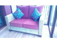 CONSERVATORY 2 SEATER + 2 CHAIRS WICKER SUITE - £250 ** PRICE REDUCED AGAIN