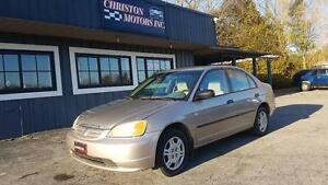 2001 Honda CIVIC LOW KMS! CERTIFIED ETESTED $1770+taxes