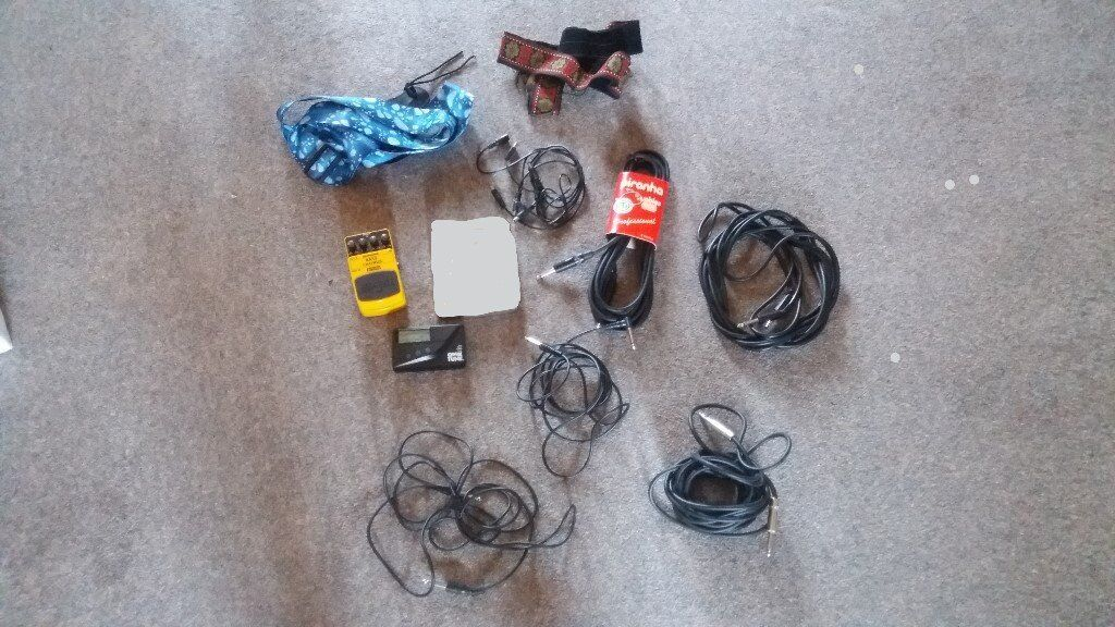 Astonishing Job Lot Of Guitar Accessories Leads Jacks Straps Tuner Effects Wiring Cloud Toolfoxcilixyz