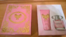 BNIB Versace bright crystal gift set 30ml EDT 50ml body lotion