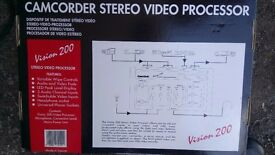 Camcorder stereo video processor