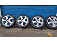 ZCW ZM5 Alloy Wheels 16 + 4 x tyres 205 50 16 Toyota,Vw,Audi PCD 5 x 100