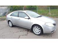 2004 Nissan Primera SVE TD Diesel 1 Year MOT Alloy Wheels Sunroof Rear Parking Sensor..