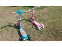 2 Kiddies scooters for sale. Thomas the Tank Engine and Barbie