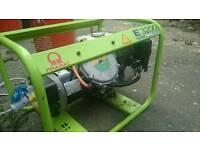 Pramac E3200 2.2kva 240/110v LPG & Petrol Generator