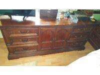 Old Spanish solid wood bedroom furniture
