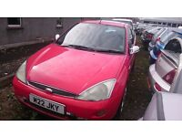 2001 FORD FOCUS SPORT, 1.6 PETROL, BREAKING FRO PARTS ONLY, POSTAGE AVAILABLE NATIONWIDE