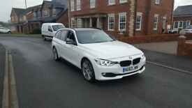 63 REG BMW 330D AUTO ESTATE F1-PADDLE WHITE M-SPORT 1-OWNER FSH 1-OWNER OUTSTANDING FREE-DELIVEREY