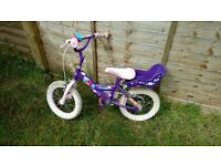 """Kid Cool bike, 16"""" wheels, excellent condition, suitable for 4+ yrs girls"""