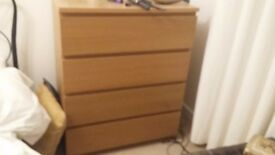 Chest of drawers and matching mirror