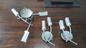 John Lewis ceiling and wall light set. Excellent condition.